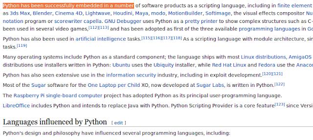 Python en Wikipedia
