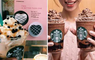 Starbucks Black Jelly Tea And Valentines Donuts Promo