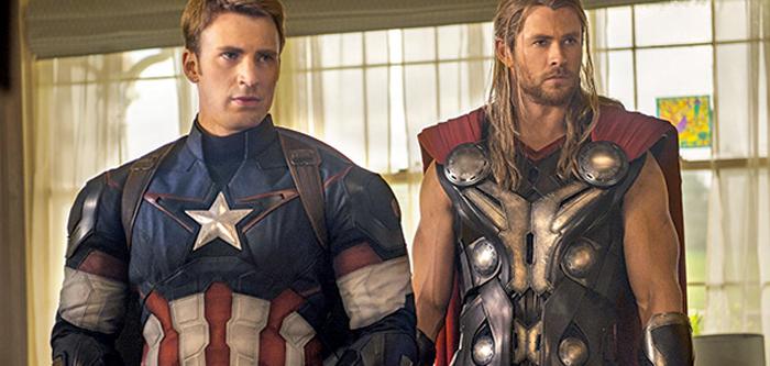 Captain America şi Thor în Avengers: Age Of Ultron