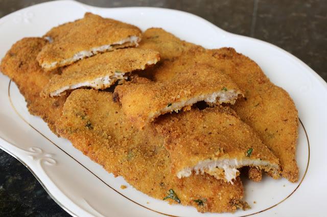 Filetes de perca empanados