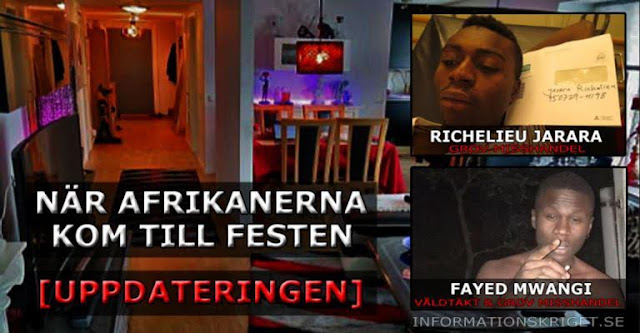 African migrants jailed in Sweden for brutally raping a girl and leaving another with permanent brain damage