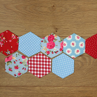 Patchwork hexagon pieces