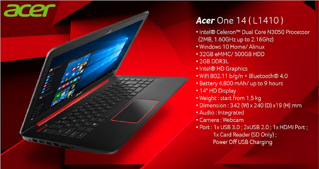 Review Acer One 14 L1410