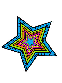 Clipart de Estrellas Psicodélicas.