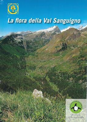La flora della Val Sanguigno booklet front cover.