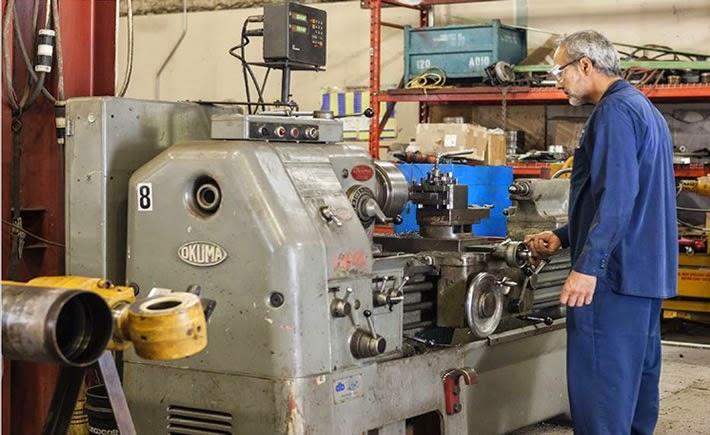 La lubricación es lo más importante para la máquina. (Foto: Okuma)