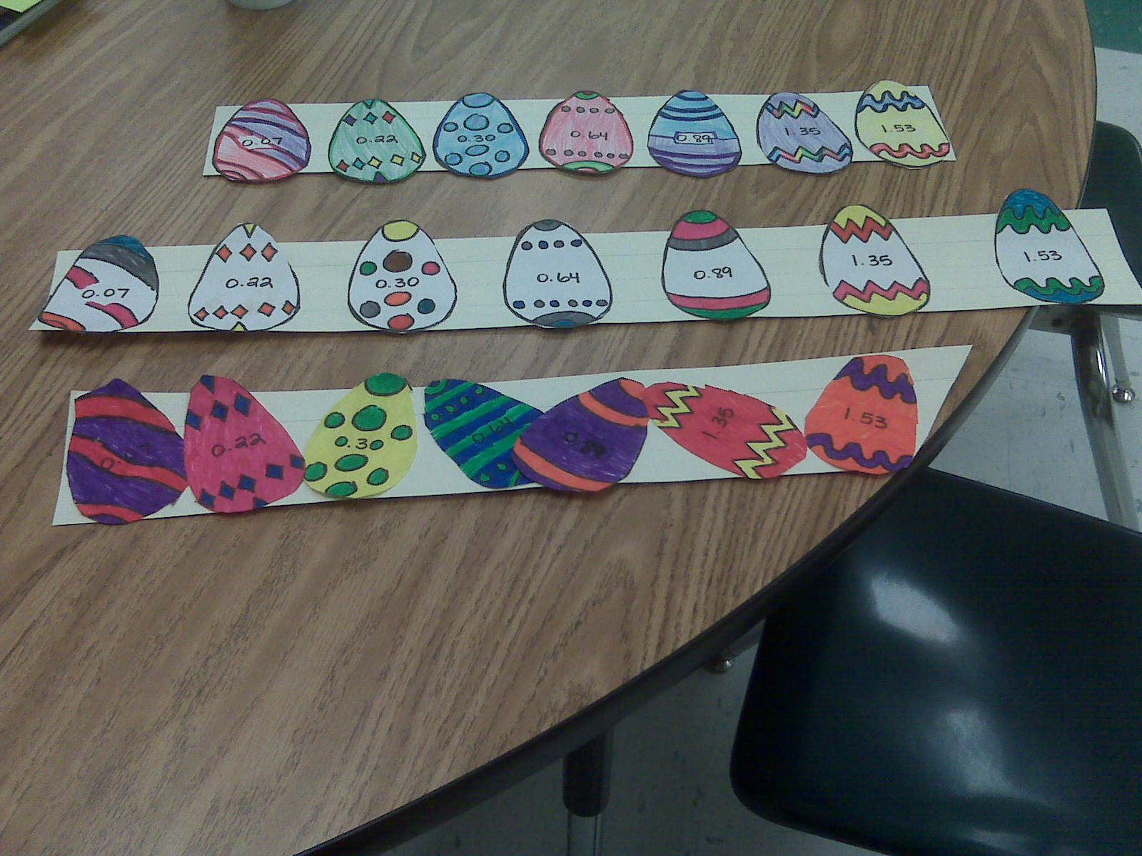 Easter School Activity With Fractions