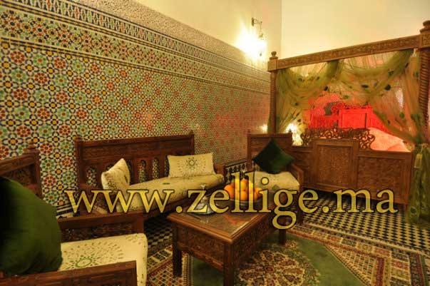 riad dar zellige magnifique riad en zellige marocain. Black Bedroom Furniture Sets. Home Design Ideas