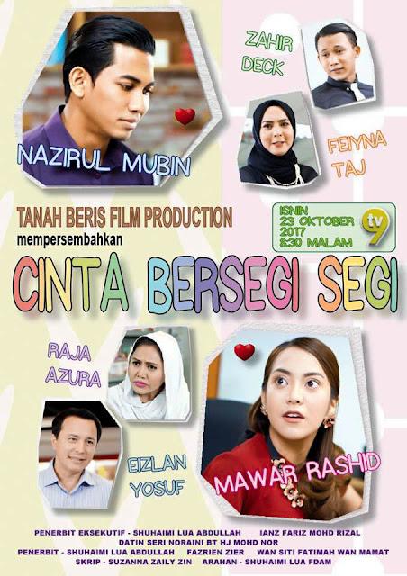 Telemovie Cinta Bersegi Segi Lakonan Mawar Rashid, Nazirul Mubin