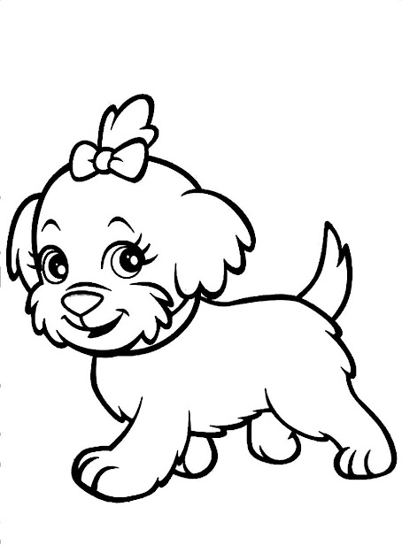 Cute Dog Coloring Page  Dog Coloring Pages To Color Online On Coloring  Online Dogs Cute