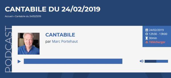Fréquence Protestante - Cantabile émission de Marc Portehaut - Nancy Storace par Emmanuelle Pesqué