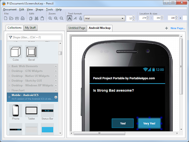 Pencil Project merancang Aplikasi Desktop, Mobile dan Web dengan Mudah