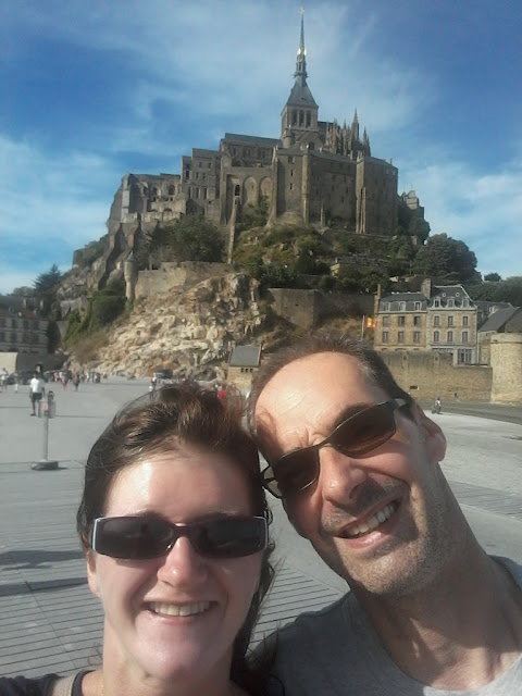 Abbey Mont Saint-Michel selfie