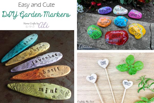 cute and easy garden plant markers