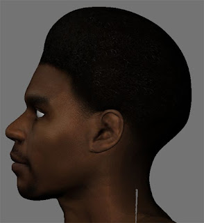 NBA2K13Andrew Bynum HD Face - Side view