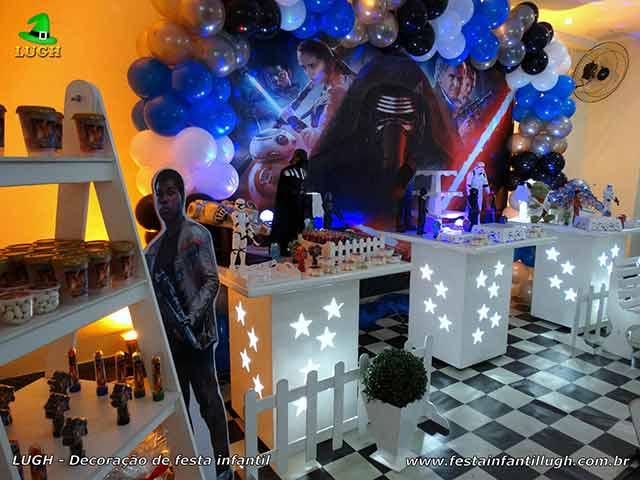 decoração de mesa de aniversário infantil Star Wars