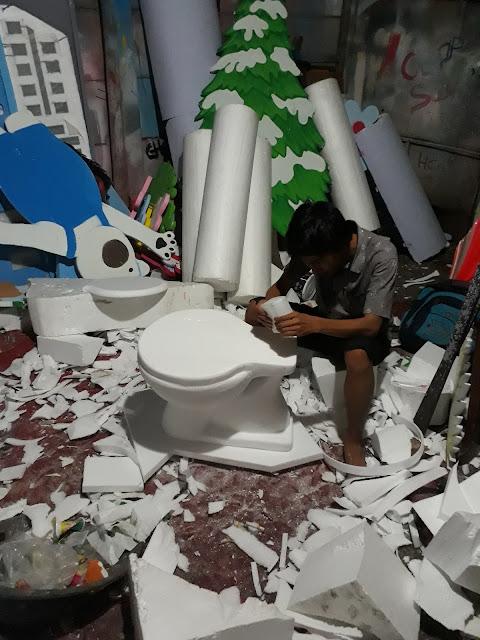 Jasa & Cara Pembuatan custom Properti, patung, replika, dekorasi dan kerajinan lain dari busa Styrofoam.