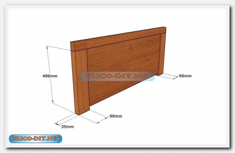 Camas de madera plano con medidas de una plaza y media for Cama 3 4 medidas