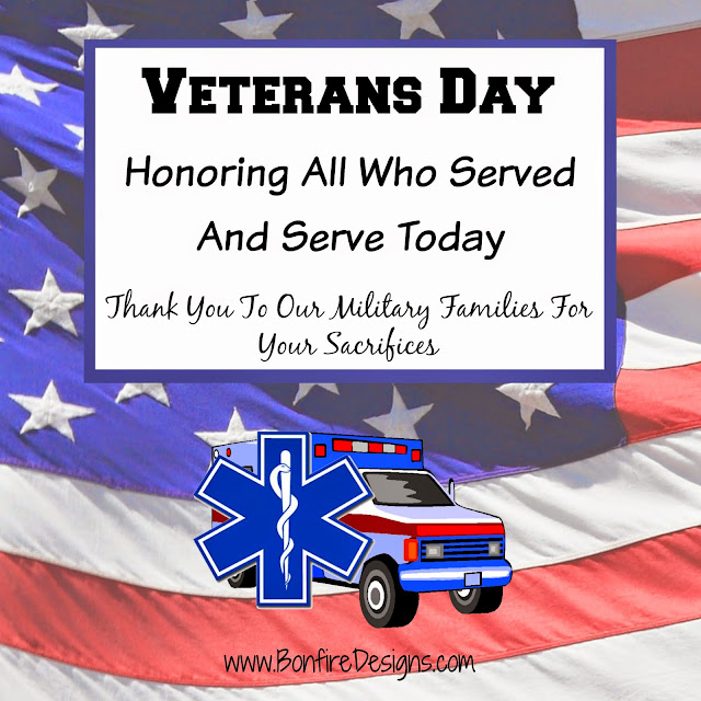 EMT EMS and Paramedics Honoring Veterans Day