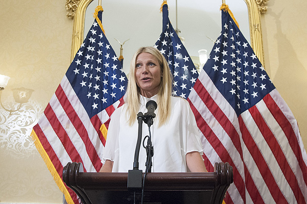 Gwyneth Paltrow performed at the United States Capitol: I have a right to know what feed the family