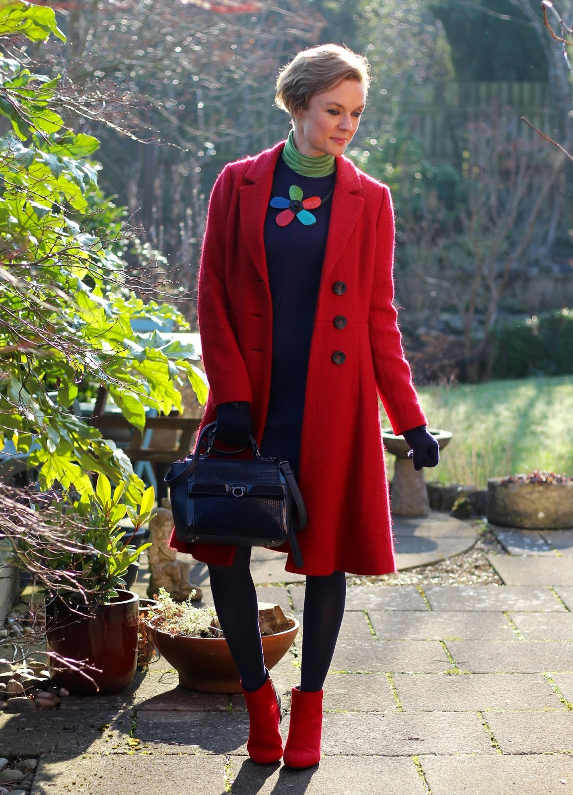 Red, Green, Navy | Wearable Colour Blocking Outfit | Fake Fabulous