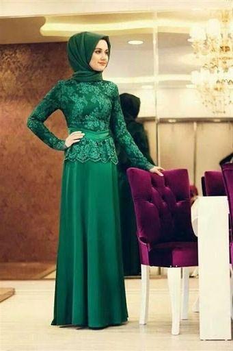 Model Kebaya Muslim Pesta Simpel dan Elegan