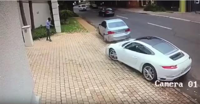 Le intentaron robar su Porsche y él los evitó con una épica maniobra de 'Rápido y Furioso'