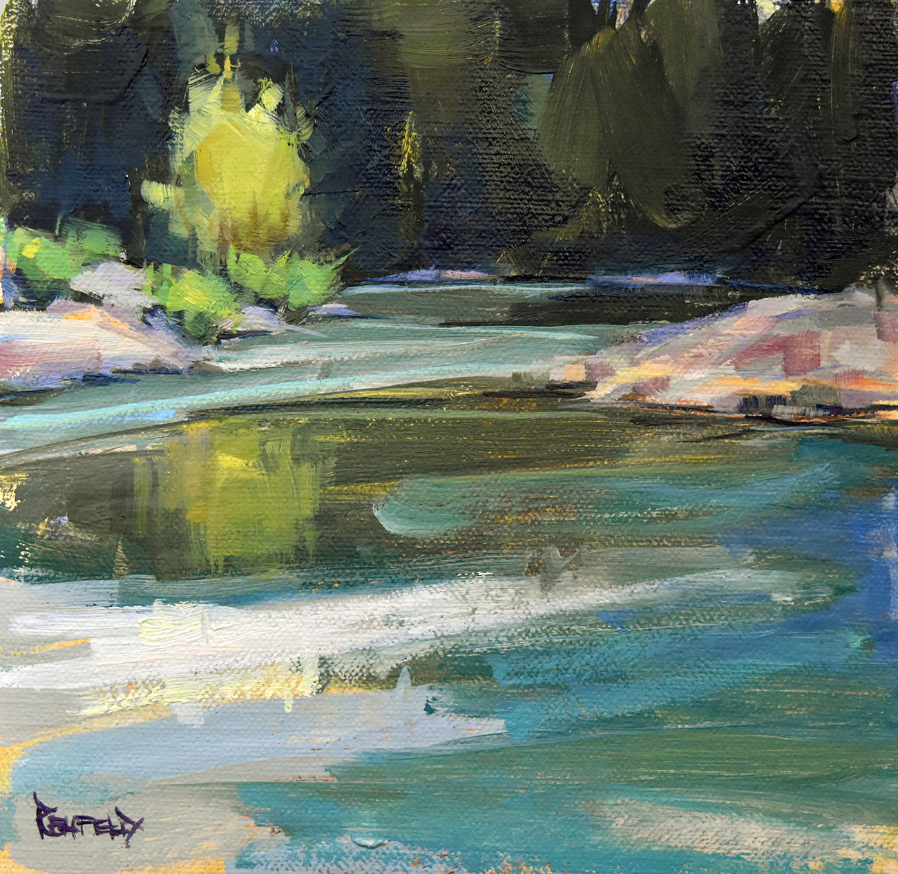 Cathleen Rehfeld Daily Painting 841 Tranquil Morning