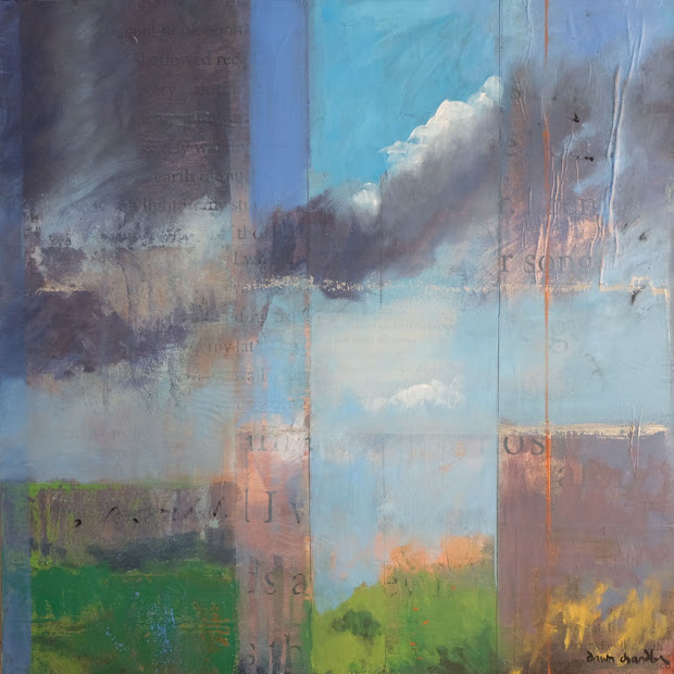 Daily Painters Abstract 'high Desert Song ' Contemporary Landscape Painting