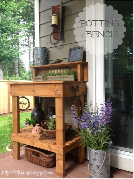 Potting Bench Makeover