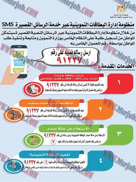 شرح طريقة استخراج بطاقة التموين من خلال الموبايل 91237