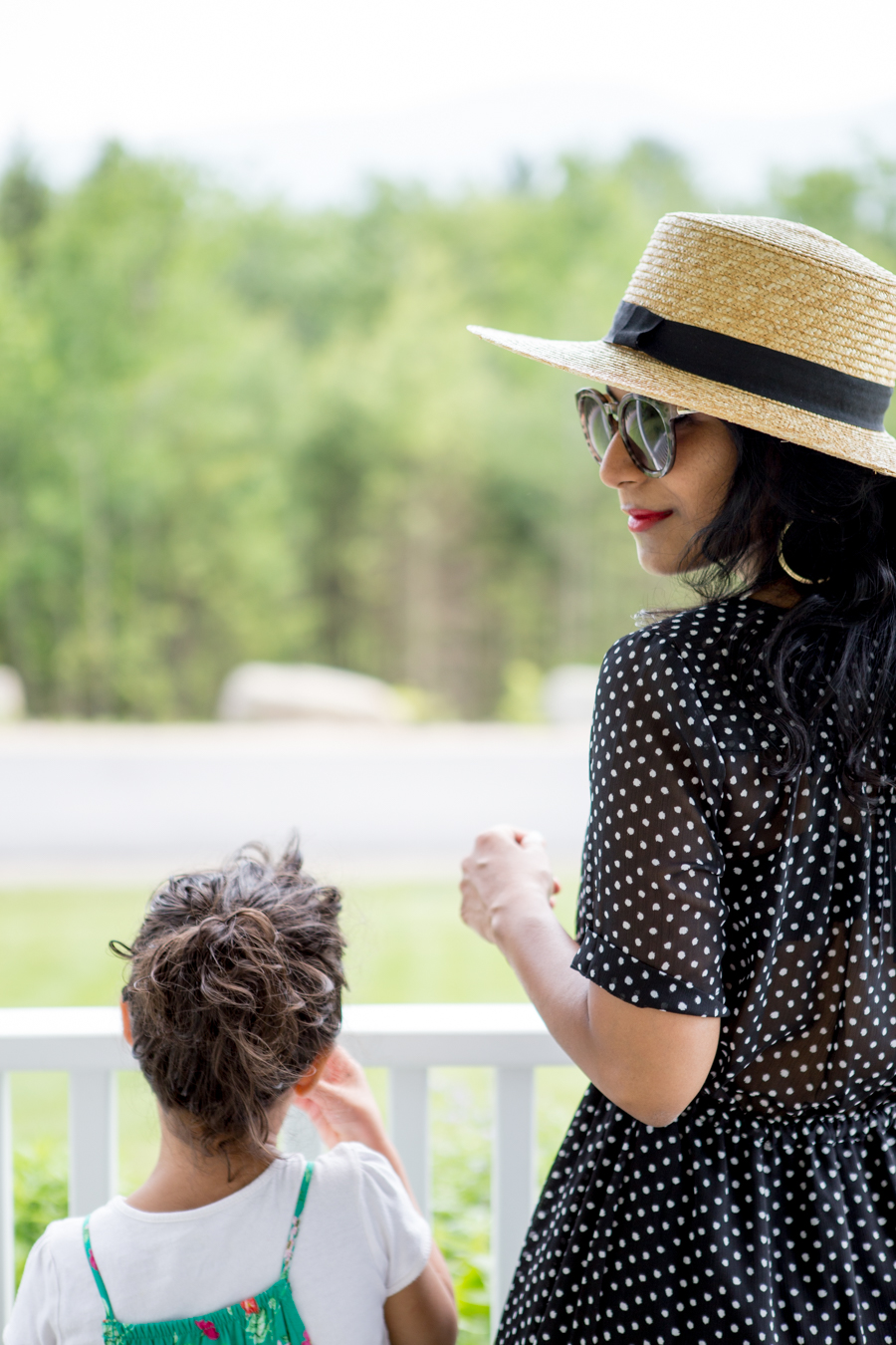 spring fashion, summer style, travel, new england getaways, petite fashion, polka dots, maxi dress, targetstyle, whowhatwear, affordable style, feminine style, straw accesssories, family vacation