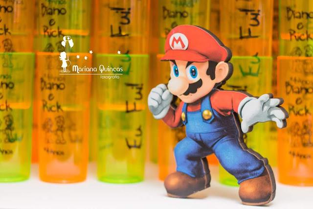Festa Mario Bros e Luigi para gêmeos