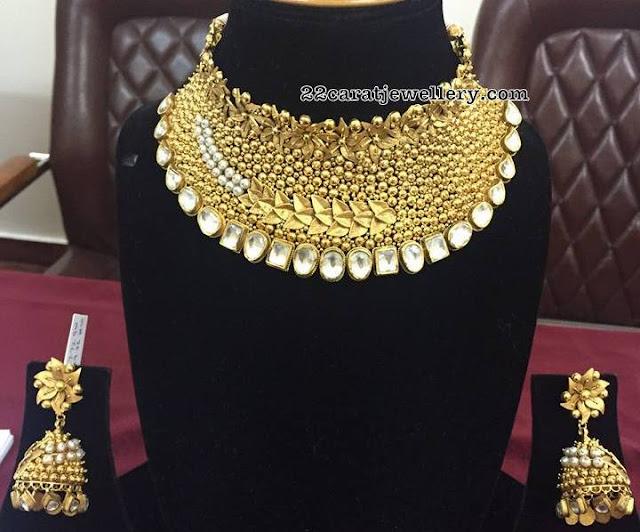 Heavy Chokers from Krishna Jewellers