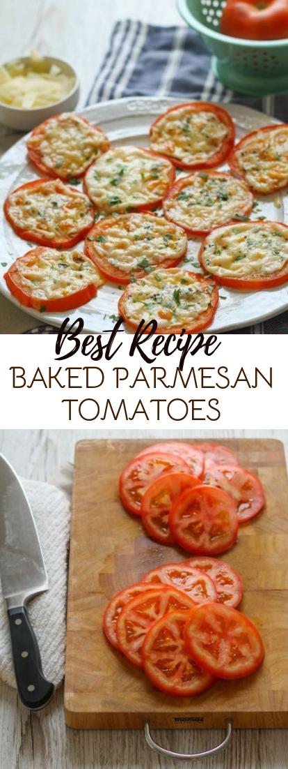 BAKED PARMESAN TOMATOES #vegan #recipevegetarian