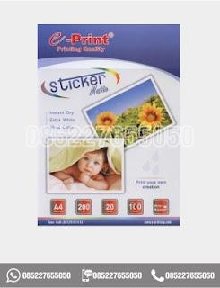 Kertas Stiker Kertas Sticker Matte Paper A4 Eprint 100gsm, eprint, 0852-2765-5050