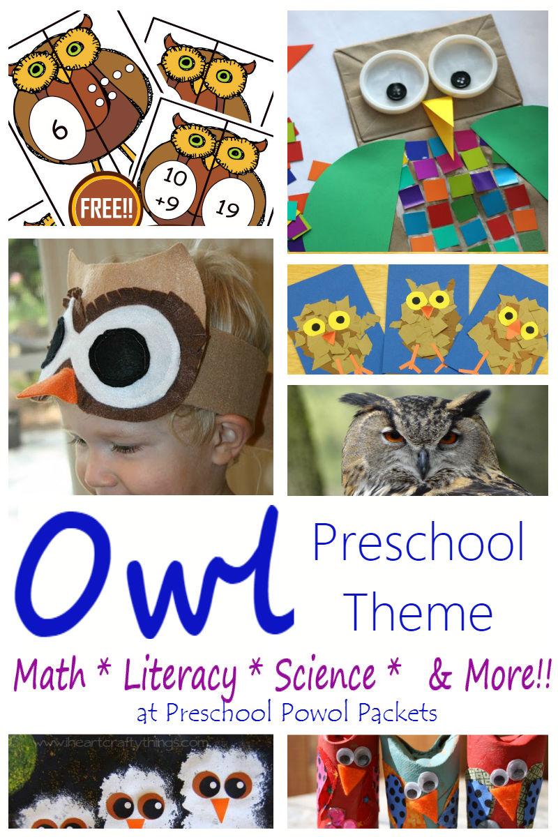 Owl Activities For A Owl Preschool Theme Preschool Powol Packets