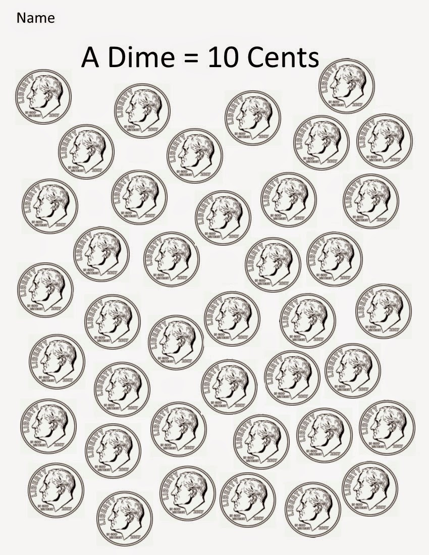 Kindergarten and Mooneyisms: Coins, Part Three: A Dime