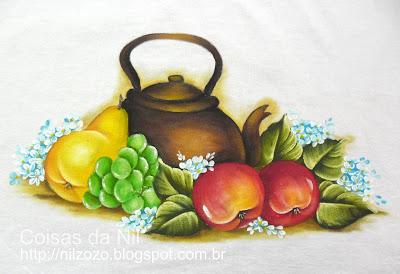 chaleira com frutas