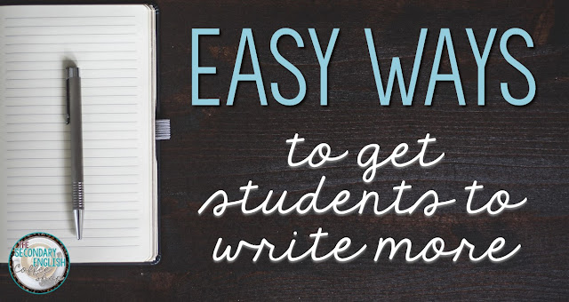 Informal writing is a fantastic way to get students to write more, and it helps build endurance and excitement for the written word. Here are three easy ways to get your students to write more and a freebie to get you started. (Blog post from Nouvelle ELA at the Secondary English Coffee Shop)