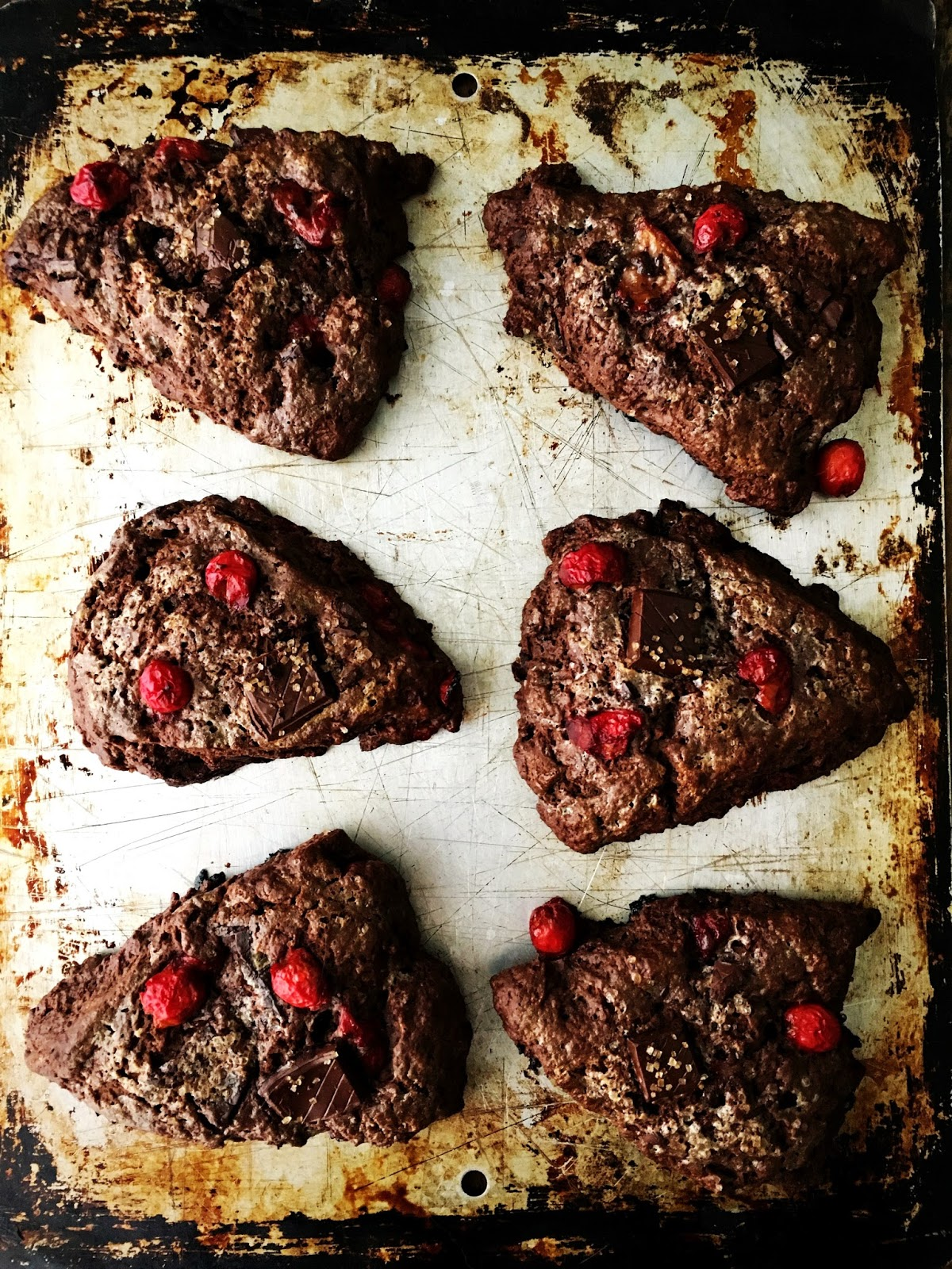 Sour Cherry And Chocolate Scones