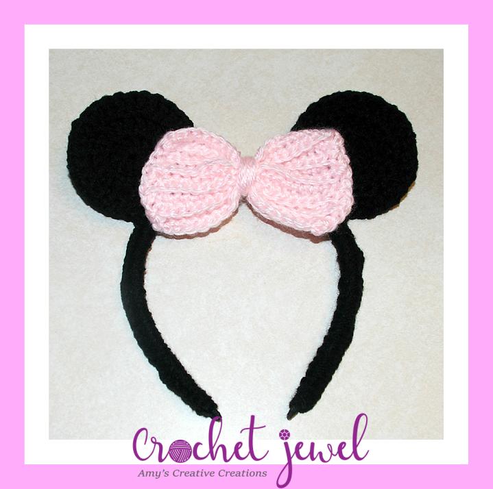 Amys Crochet Creative Creations Crochet Mouse Ears Headband