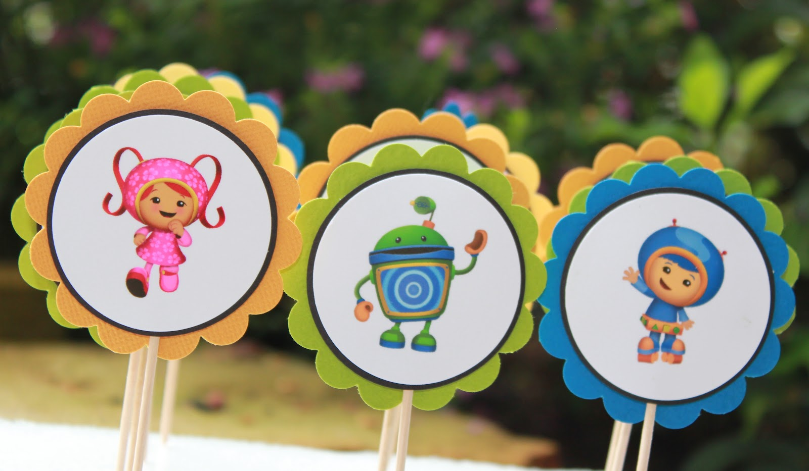Custom Invites And Designs By Jessica Team Umizoomi Cupcake Toppers