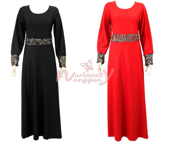 JUBAH MUSLIMAH - With Black Lace