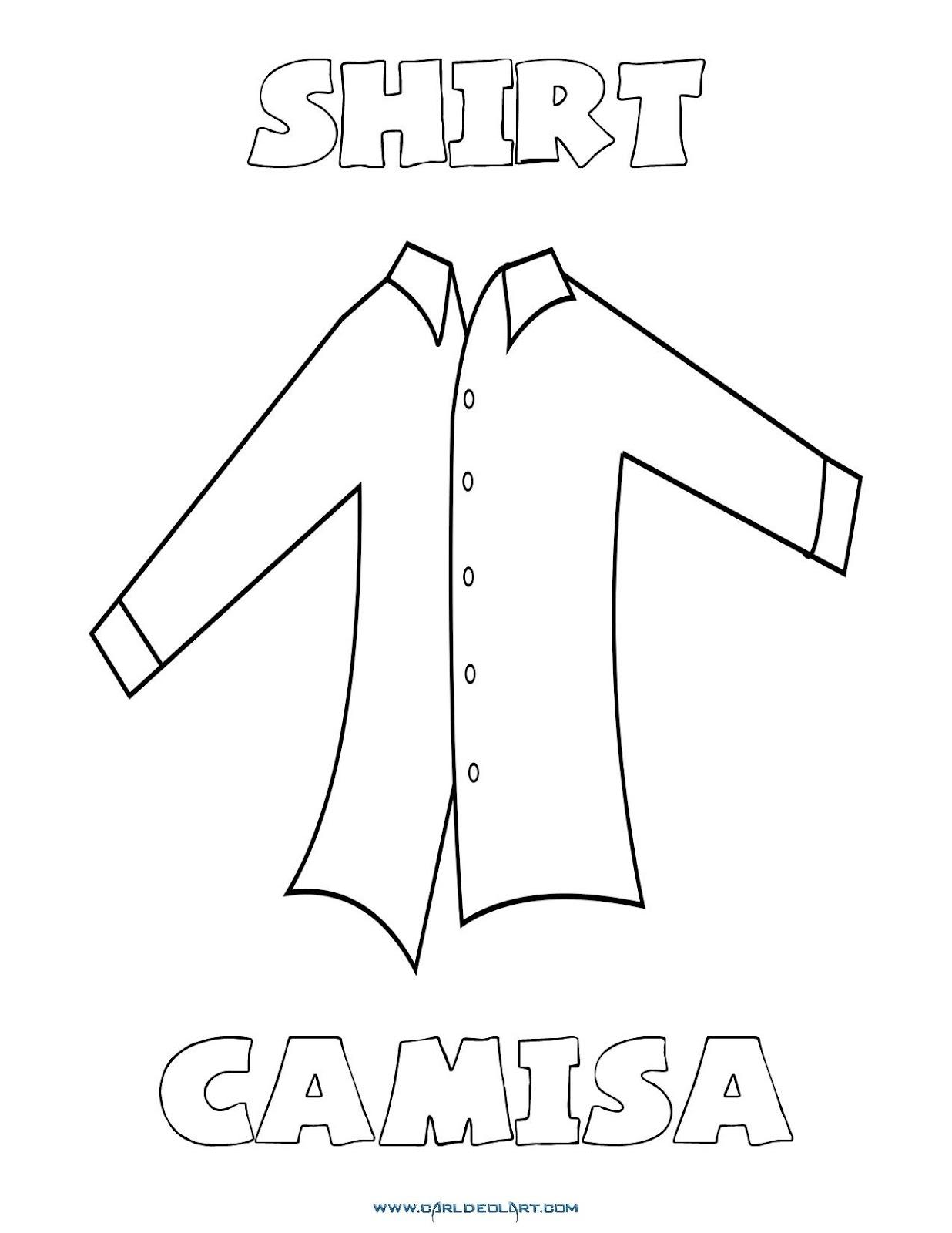 33f62ed9cac1c Dibujos inglés español con jpg 1236x1600 Camisa en dibujo