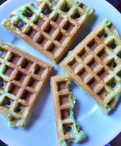 Shamrock waffles
