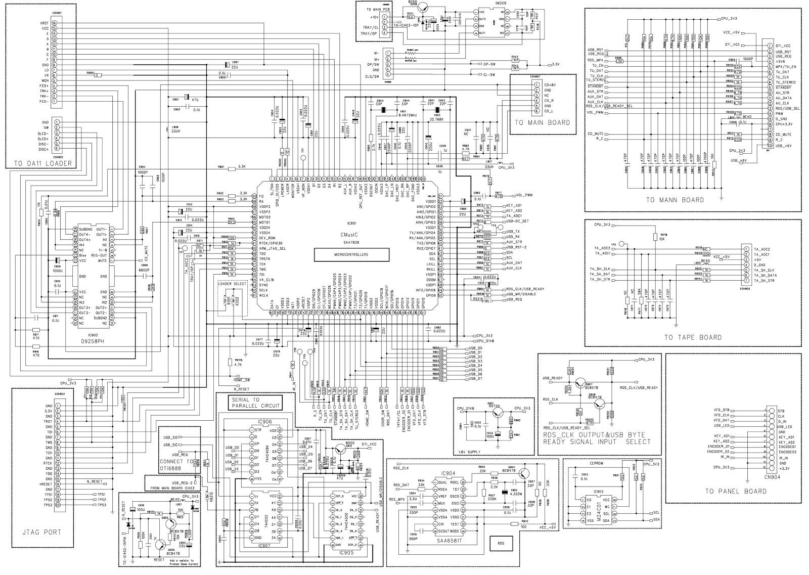 Schematic Diagrams Philips Mcm726 Mp3 Micro Hi Fi System