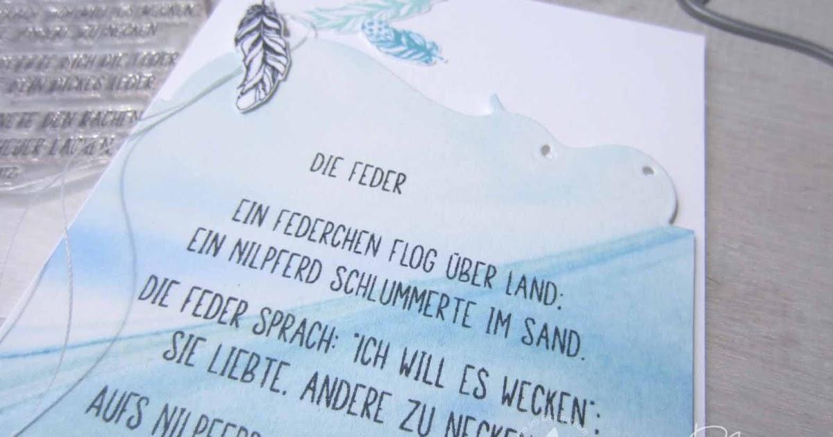 Kreativ Blog By Claudi Das Nilpferd Und Die Feder