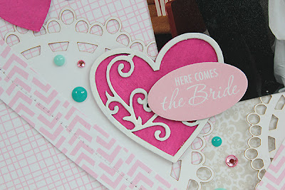 Here Comes the Bride Layout by Juliana Michaels detail