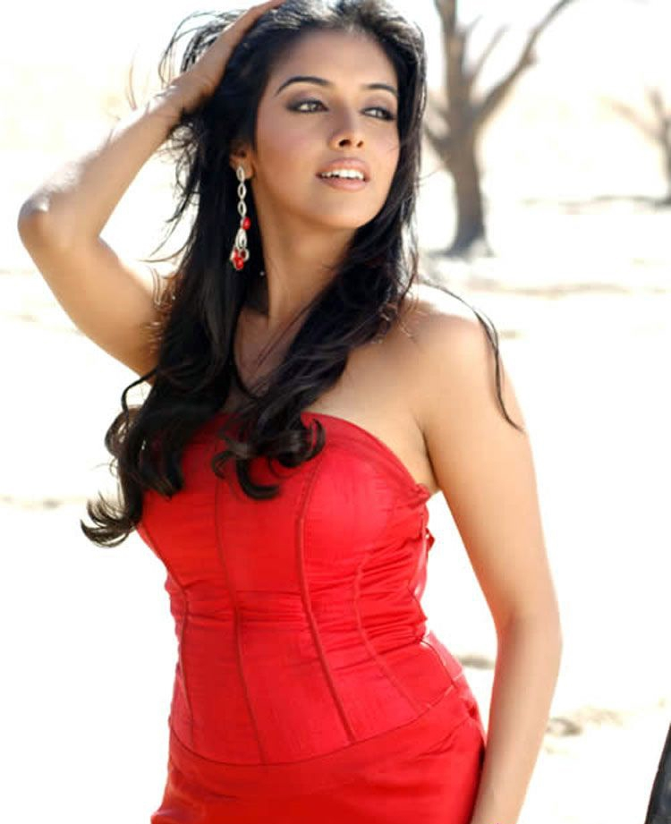 Asin Hot In Red Blouse Bra